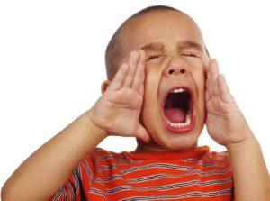 stem van het kind